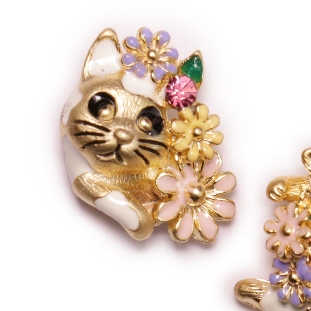 Baddy Cat Gold Earrings