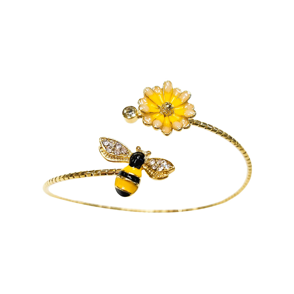Bee Flower Bangle