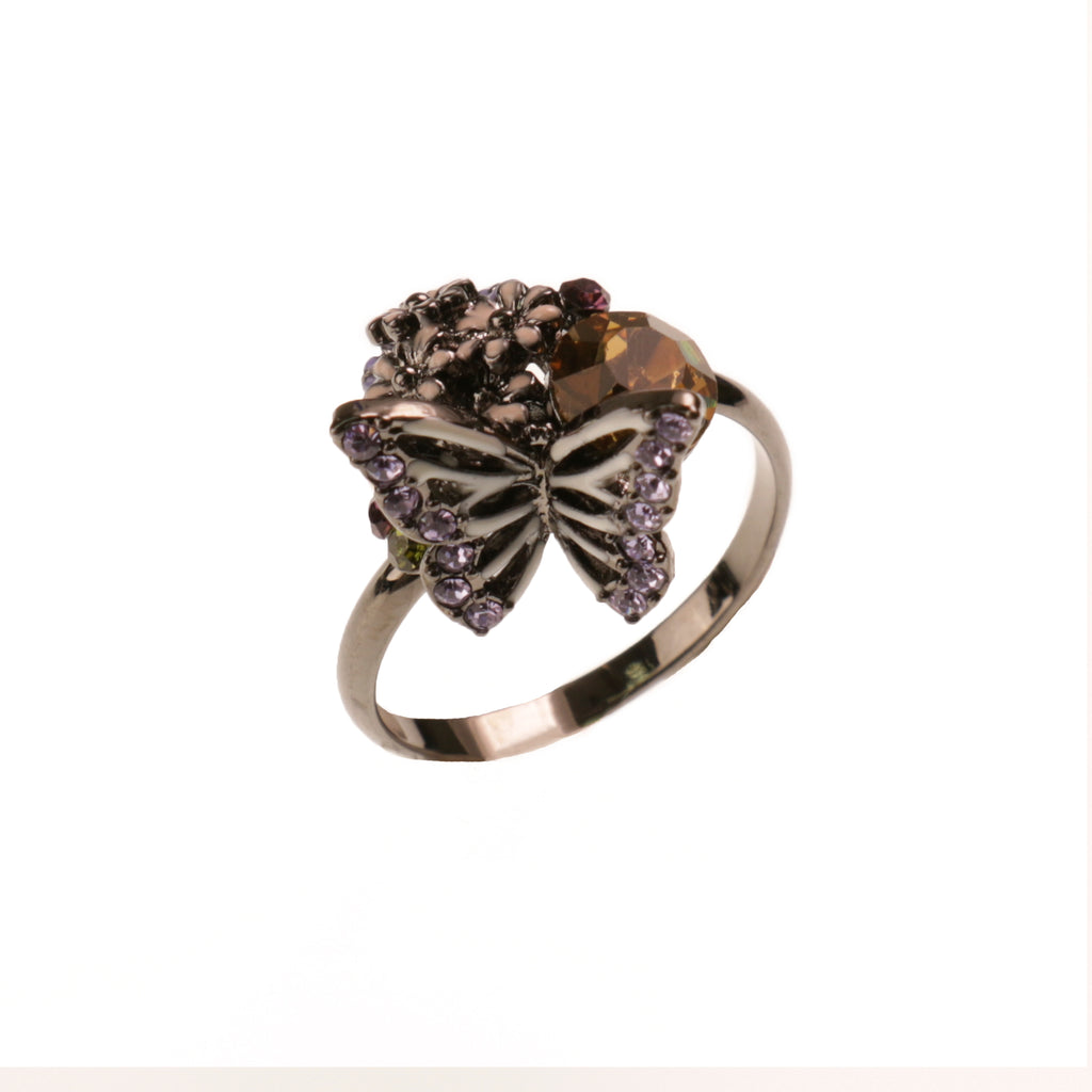 Dark Butterfly Ring
