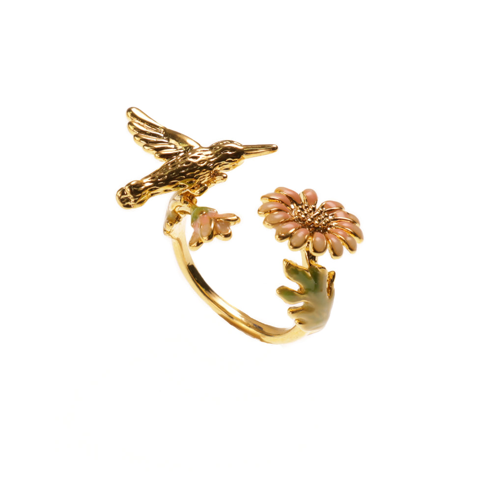 Humming Bird Pink Ring