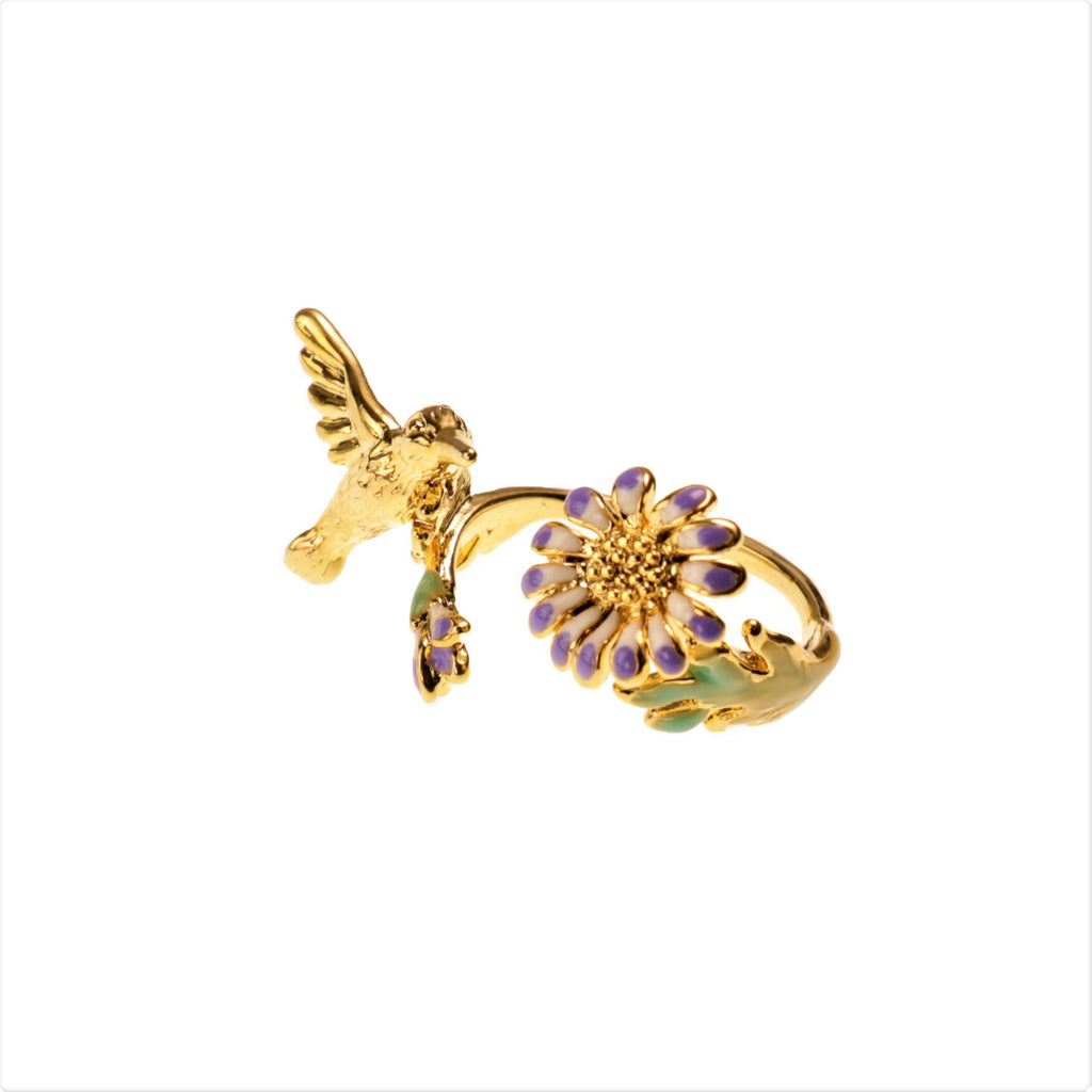 Humming Bird Purple Ring