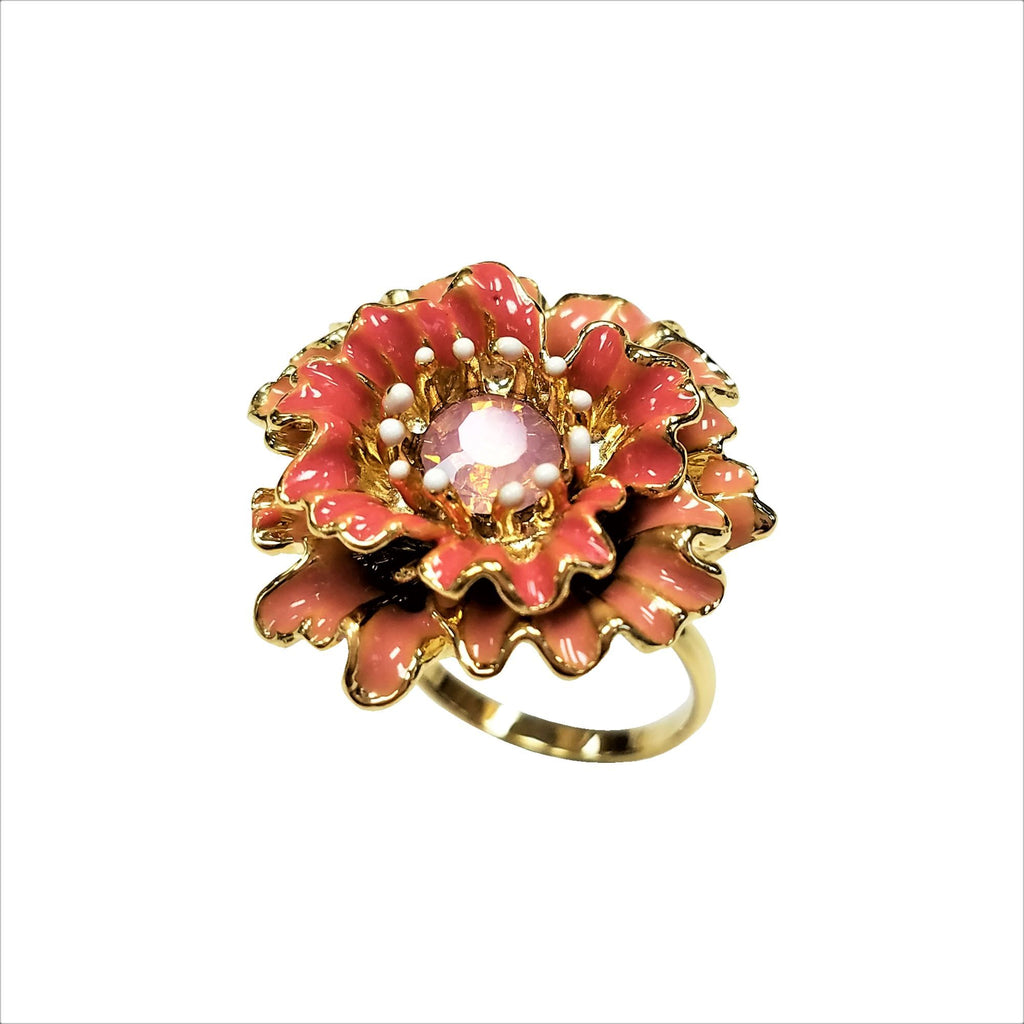 Nari Double Paper Flower Ring Gold