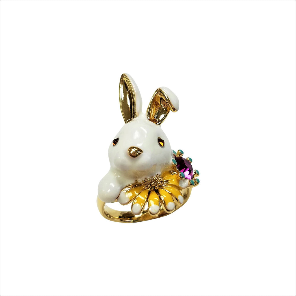 Stone Rabbit  Ring