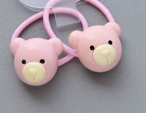 Bear hair elastic (set of two)