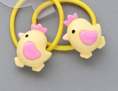 Chick hair elastic (set of two)