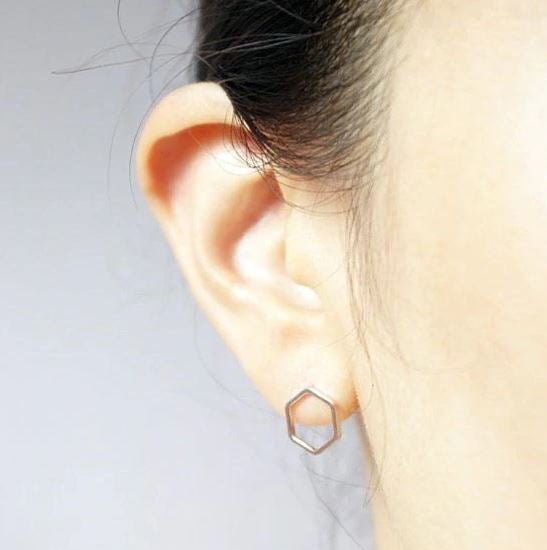 Cute, Simple and Elegant Honeycomb Earring