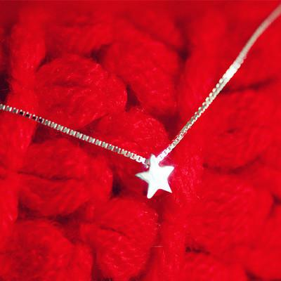 Cute 925 Silver Little Stars Necklace