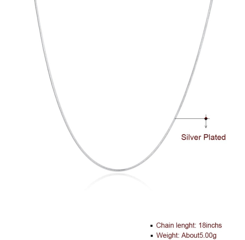 Simple elegant 925 silver plated necklace. Ideal for fitting pendant