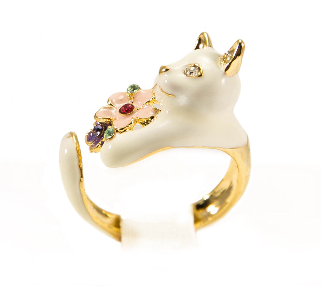 White Kitty Ring