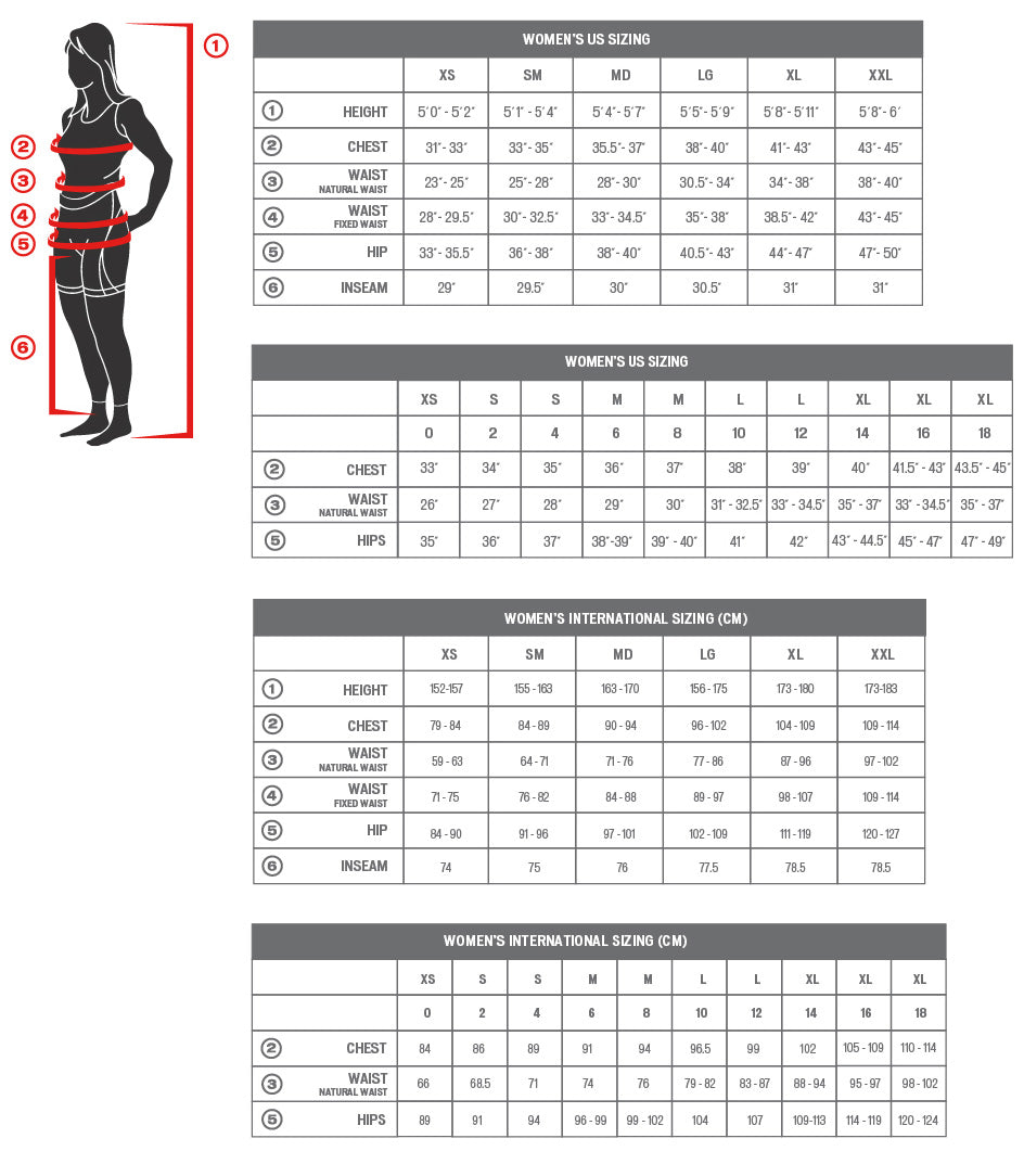 specialized womens size chart