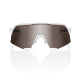 100% - S3 Glasses - White - HiPER Silver Mirror Lens