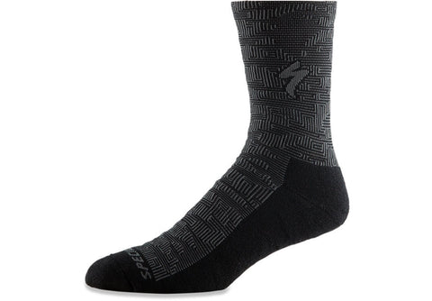 TECHNO MTB TALL SOCK - Black / Charcoal