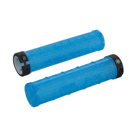 SUPACAZ BAR GRIPS GRIZIP NEON BLUE CLEAR