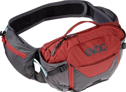 EVOC Hip Pack Pro 3L + 1.5L Bladder - Carbon / Chilli Red
