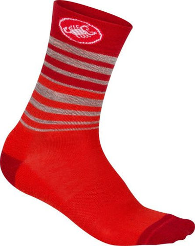 Castelli Righina Women's Socks 13 Inch Red
