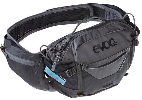 EVOC Hip Pack Pro 3L + 1.5L Bladder - Black / Grey