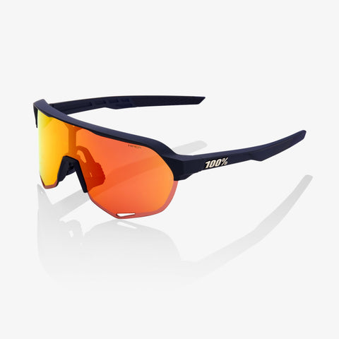 100% S2 Glasses - Soft Tact Flume - HiPER Red Lens