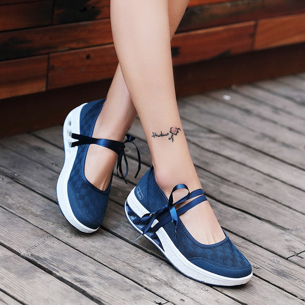 Casual Flats with Ribbon