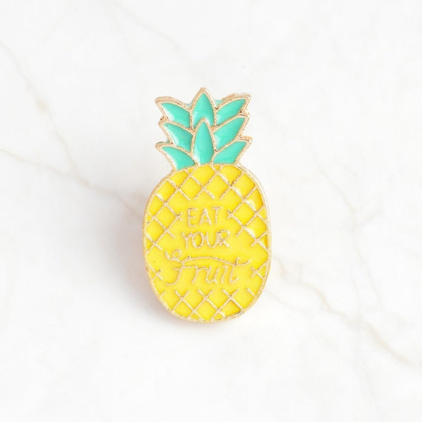 Cartoon Pineapple Enamel Pin Brooch