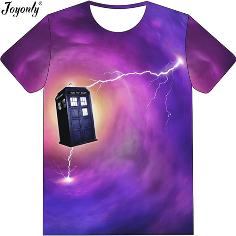 Doctor Who Purple Color Galaxy T Shirt