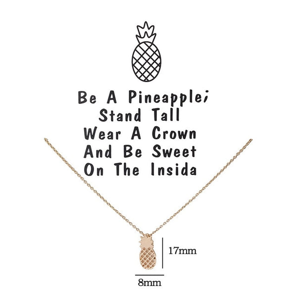 Minimalist Pineapple Necklace