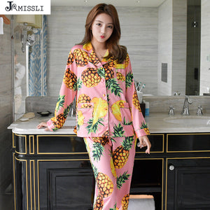 Pineapple Pajama Long Sleeve Set