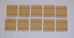 Set of 10 Golden Hundred Bead Squares