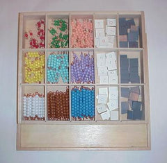Checkerboard Tiles & Beads w/Box