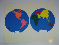 Puzzle Map of the World Parts