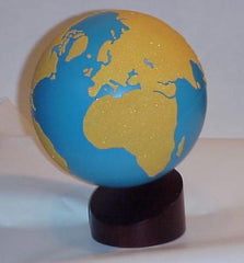 Globe with Stand - Sandpaper/Water