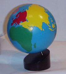 Globe with Stand - Continents Colored