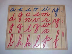 Vinyl Moveable Alphabet, Cursive, 10 sets