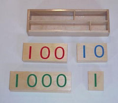 Large Wooden Number Cards 0-9000