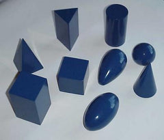Geometric Solids, Blue