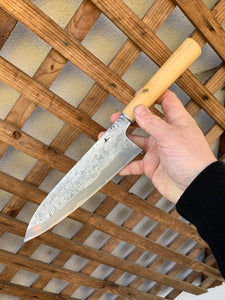 Milan Gravier 215mm boxwood gyuto