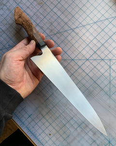 "Troopah Knives 8"" stainless gyuto"