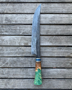 "Zim Knives 9.25"" damascus butcher"