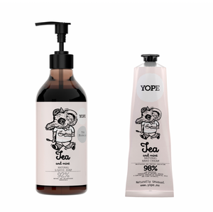 YOPE Hand cream and Liquid soap with TGA Duo Set with box / YOPE 護手霜配TGA配方洗手液套裝禮盒 (孖裝) - Xavi Soap