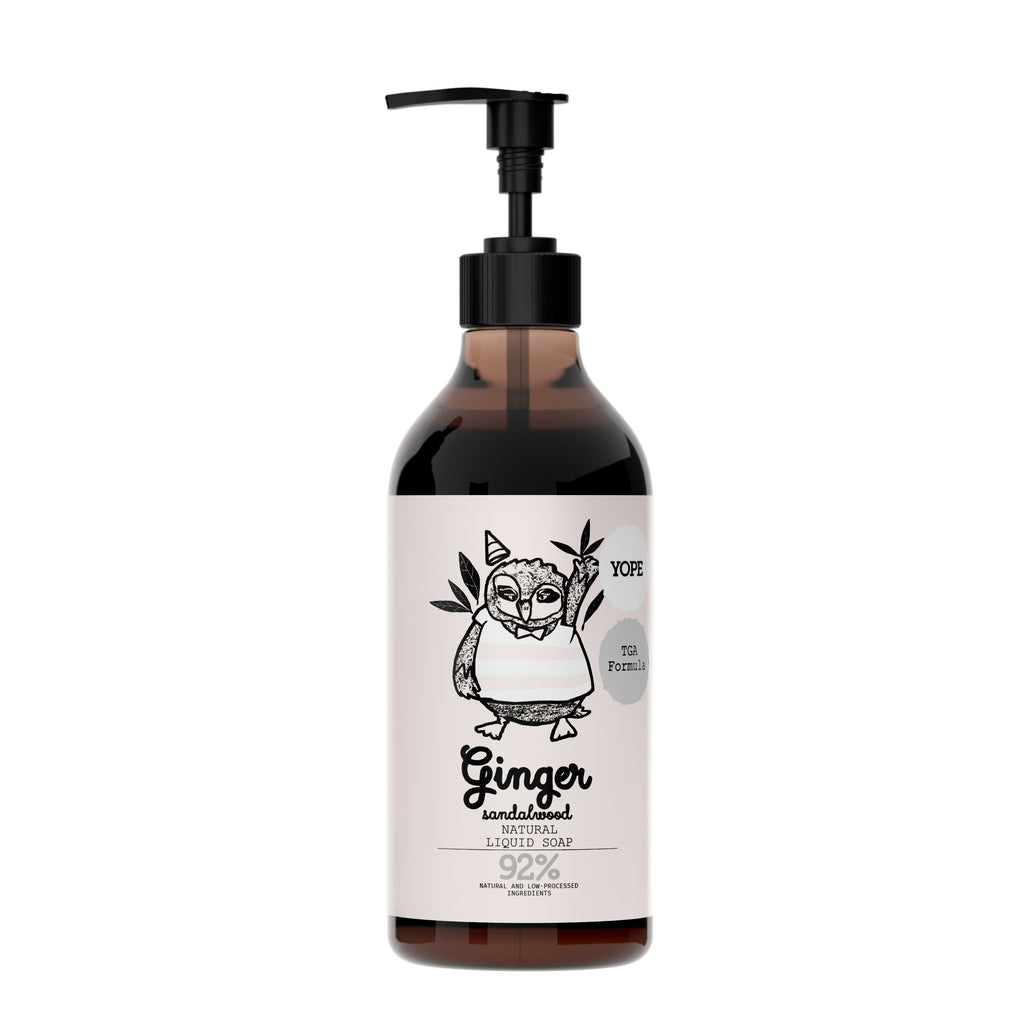 YOPE Liquid Soap with TGA Formula Ginger & Sandalwood / YOPE 生薑丶檀香配TGA配方洗手液 - Xavi Soap