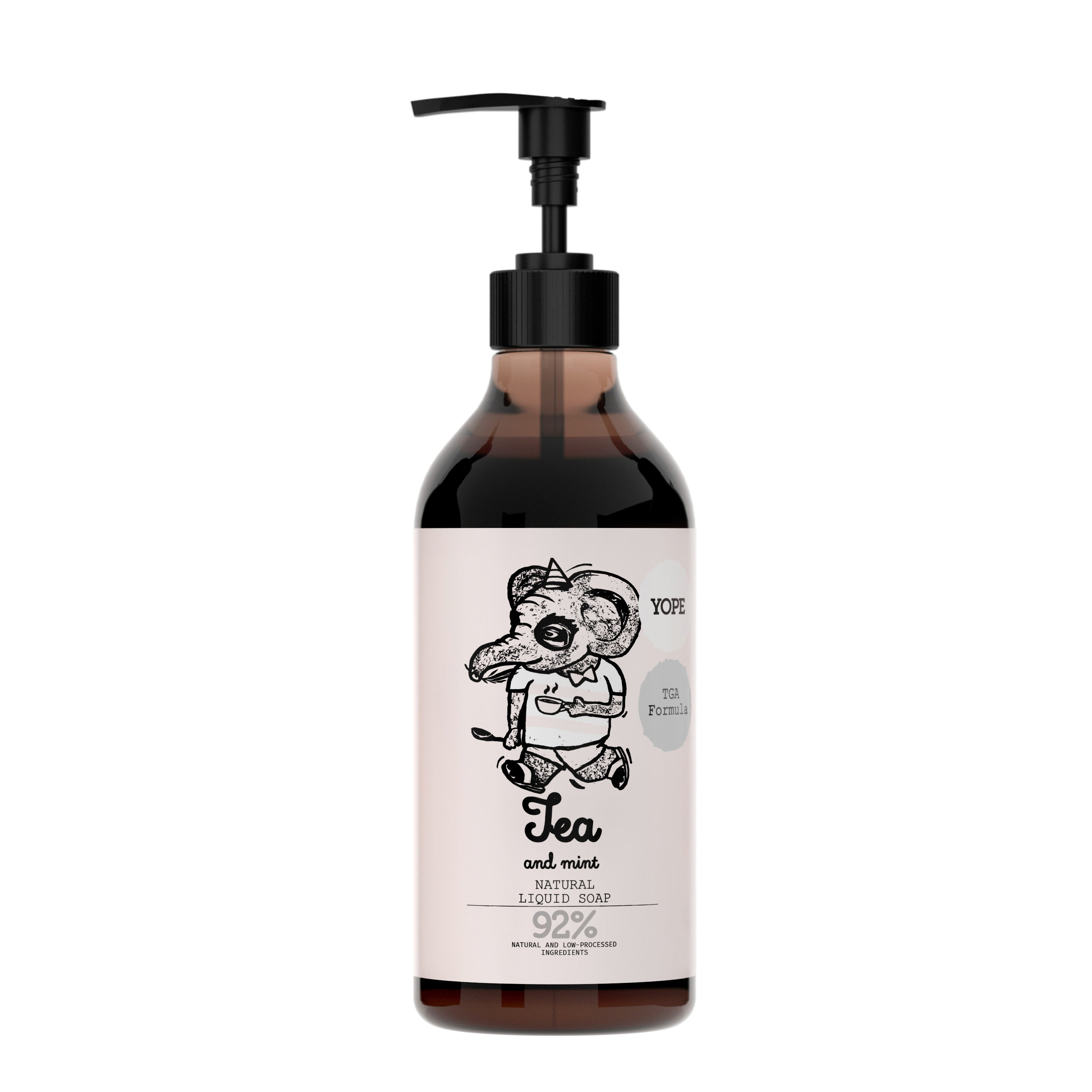 YOPE Liquid Soap with TGA Formula Tea & Peppermint / YOPE 茶丶薄荷配TGA配方洗手液 - Xavi Soap