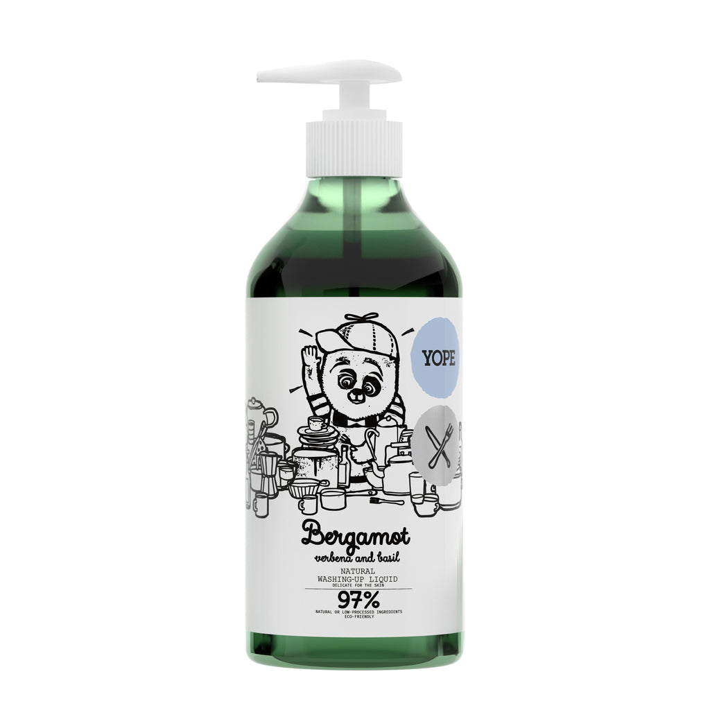YOPE Natural Washing-Up Liquid Bergamot & Basil / YOPE 佛手柑丶羅勒洗碗液 - Xavi Soap