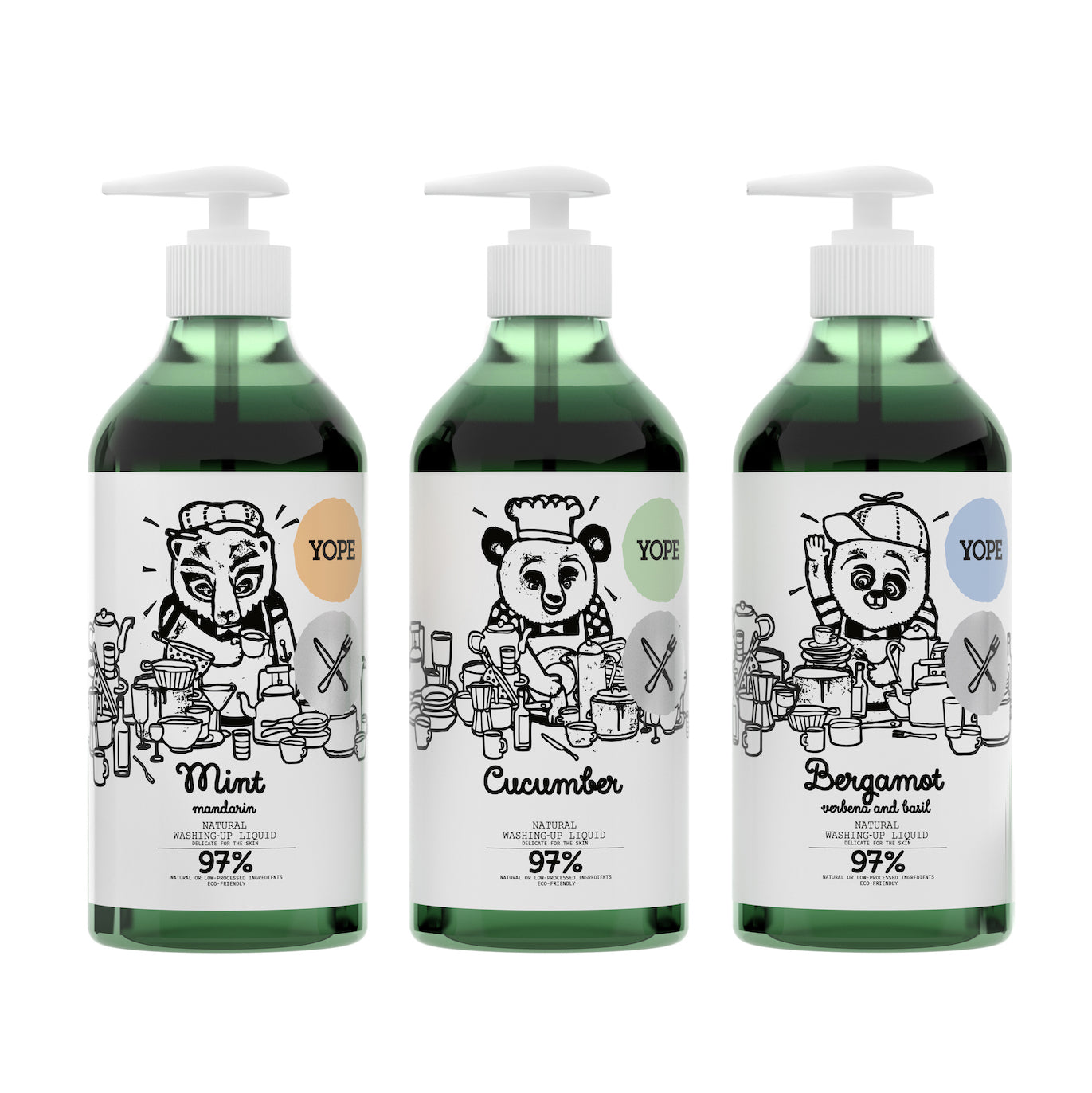 YOPE Natural Washing-Up Liquid Mint & Mandarin / YOPE 薄荷丶柑橘洗碗液 - Xavi Soap