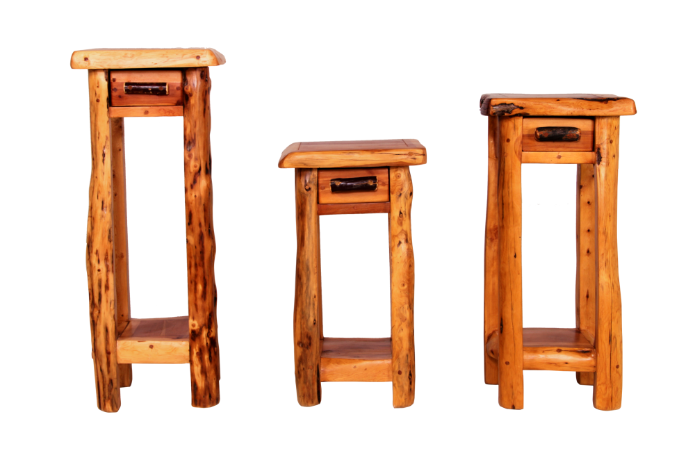 Cedar Telephone Tables