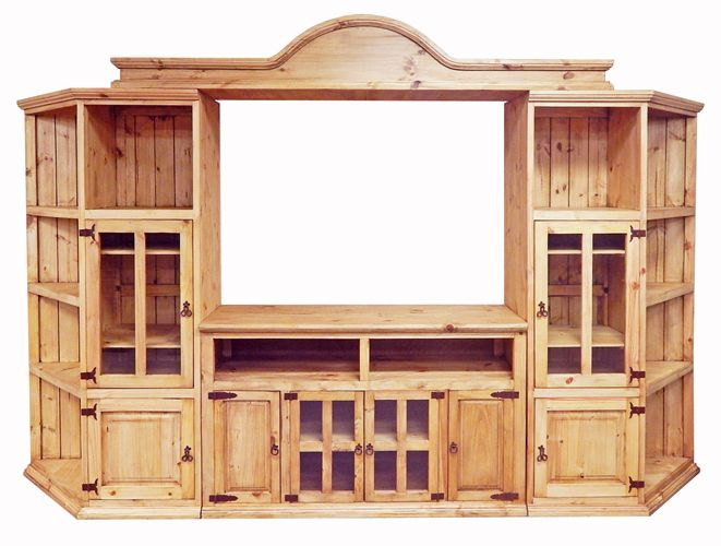 Four Piece Wall Entertainment Center with Component