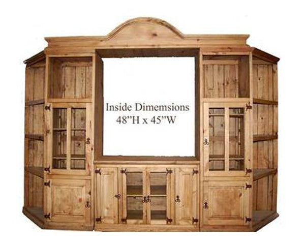 4 Piece Entertainment Center Cut Corner