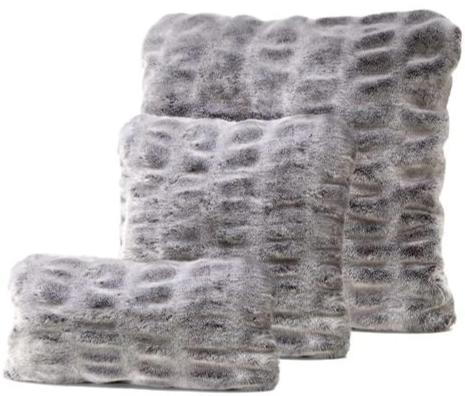 Grey Mink Pillow
