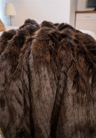 Andes Espresso Mink Throw Blanket