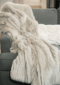 Andes Grey Mink Throw Blanket