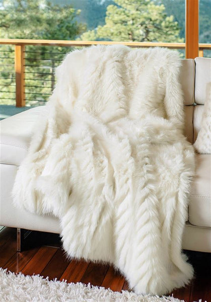 Andes Ivory Mink Throw Blanket