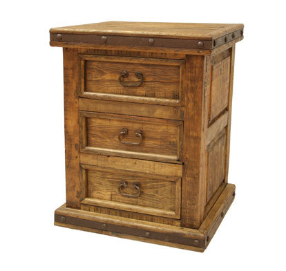Pueblito 3 Drawer Nightstand